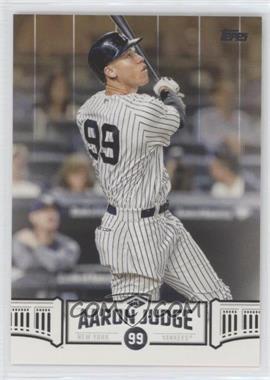 2018 Topps - Wal-Mart Aaron Judge Highlights - Gold #AJ-23 - Aaron Judge /50