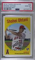 1959 Design Photo Variation - Shohei Ohtani (Bat Pose) [PSA 10 GEM&nb…