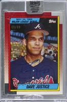 David Justice (1990 Topps MLB Debut) [BuyBack] #/99