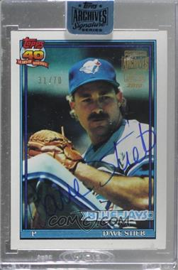 2018 Topps Archives Signature Series Retired Player Edition Buybacks - [Base] #91T-460 - Dave Stieb (1991 Topps) /70 [BuyBack]