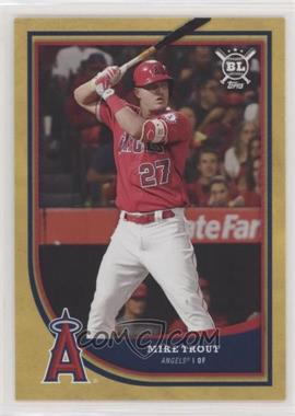 2018 Topps Big League - [Base] - Gold #150.1 - Base - Mike Trout (Teammates in Dugout)
