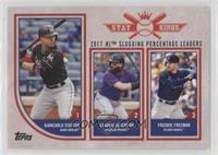 Stat Kings Trio - Giancarlo Stanton, Charlie Blackmon, Freddie Freeman
