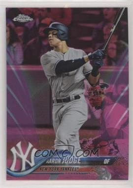 2018 Topps Chrome - [Base] - Pink Refractor #1 - Aaron Judge