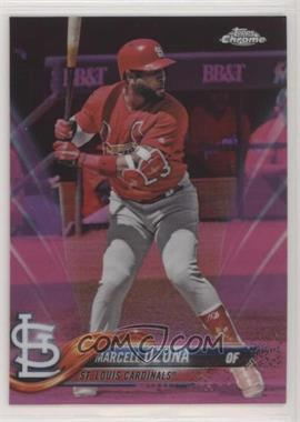 2018 Topps Chrome - [Base] - Pink Refractor #149 - Marcell Ozuna