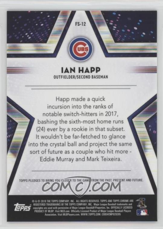 2018 Topps Chrome - Future Stars #FS-12 - Ian Happ