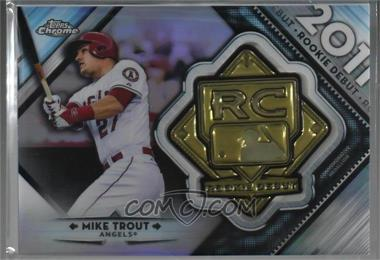 2018 Topps Chrome Rookie Debut Medallions Rdm Mt Mike Trout