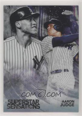 2018 Topps Chrome - Superstar Sensations #SS-1 - Aaron Judge