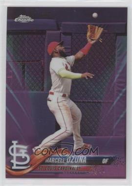 2018 Topps Chrome Update - Target Exclusive [Base] - Pink Refractor #HMT46 - Marcell Ozuna