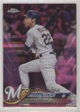 2018 Topps Chrome Update - Target Exclusive [Base] - Pink Refractor #HMT47 - Christian Yelich