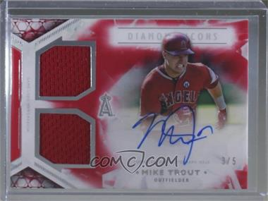 2018 Topps Diamond Icons - Dual Autograph Relics - Red #DAR-MT - Mike Trout /5