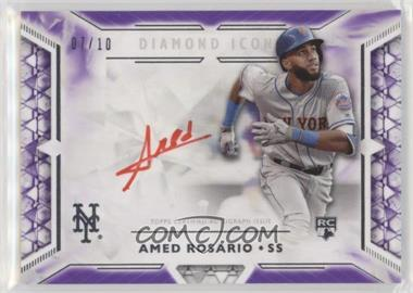 2018 Topps Diamond Icons - Red Ink Autographs - Purple #RIA-ARS - Amed Rosario /10