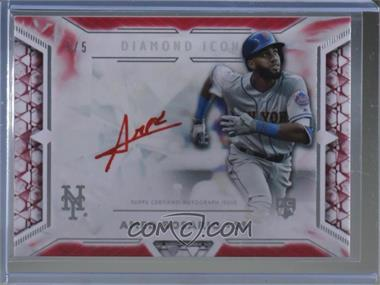 2018 Topps Diamond Icons - Red Ink Autographs - Red #RIA-ARS - Amed Rosario /5