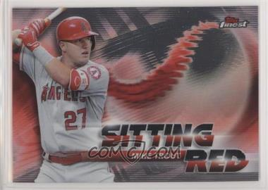 2018 Topps Finest - Sitting Red #SR-MT - Mike Trout [EX to NM]
