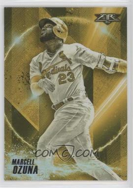 2018 Topps Fire - Power Producers - Gold Minted #PP-7 - Marcell Ozuna