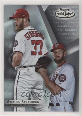 2018 Topps Gold Label - [Base] - Class 3 #96 - Stephen Strasburg [Noted]