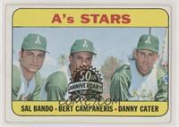 Sal Bando, Bert Campaneris, Danny Cater [NoneGoodtoVG‑E…