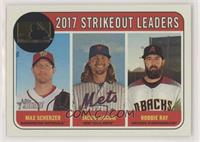 League Leaders - Robbie Ray, Max Scherzer, Jacob deGrom /25