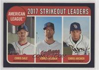 League Leaders - Chris Archer, Chris Sale, Corey Kluber /50