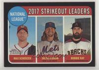 League Leaders - Robbie Ray, Max Scherzer, Jacob deGrom #/50