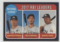 League Leaders - Nolan Arenado, Giancarlo Stanton, Marcell Ozuna /50