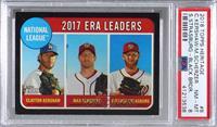 League Leaders - Max Scherzer, Stephen Strasburg, Clayton Kershaw [PSA8&n…
