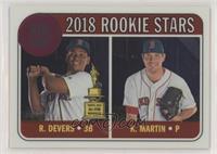 Rookie Stars - Kyle Martin, Rafael Devers #/999