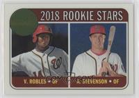 Rookie Stars - Andrew Stevenson, Victor Robles #/999