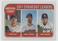 League Leaders - Chris Archer, Chris Sale, Corey Kluber
