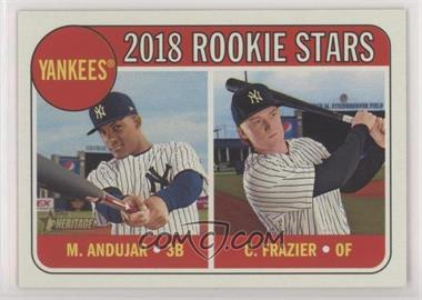 2018 Topps Heritage - [Base] #114.1 - Rookie Stars - Clint Frazier, Miguel Andujar