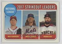 League Leaders - Robbie Ray, Max Scherzer, Jacob deGrom