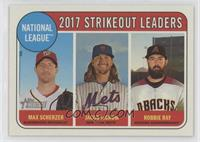 League Leaders - Robbie Ray, Max Scherzer, Jacob deGrom