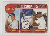 Rookie Stars - O'Koyea Dickson, Kyle Farmer, Tim Locastro