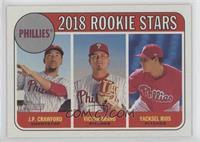 Rookie Stars - J.P. Crawford, Victor Arano, Yacksel Rios