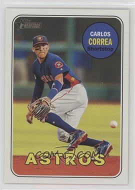 2018 Topps Heritage - [Base] #381.2 - Action Variation - Carlos Correa (Fielding)