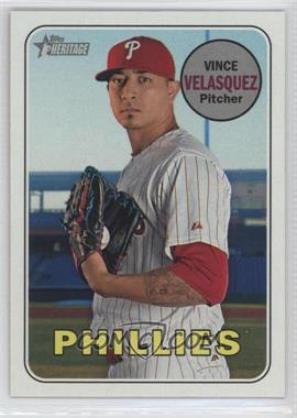 2018 Topps Heritage - [Base] #496 - High Number SP - Vince Velasquez - Courtesy of COMC.com