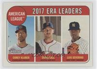 League Leaders - Corey Kluber, Chris Sale, Luis Severino
