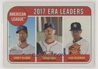 League Leaders - Corey Kluber, Chris Sale, Luis Severino