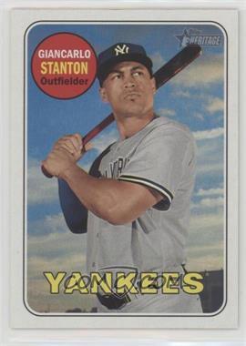 2018 Topps Heritage - [Base] #74.1 - Base - Giancarlo Stanton