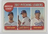League Leaders - Jason Vargas, Carlos Carrasco, Corey Kluber