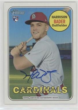 2018 Topps Heritage - Real One Autographs #ROA-HB - Harrison Bader