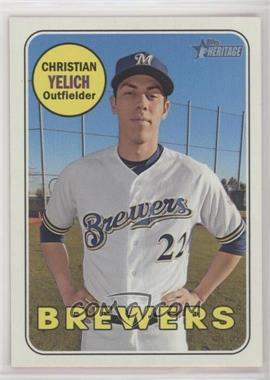 2018 Topps Heritage High Number - [Base] #720.1 - Short Print - Christian Yelich (Base)