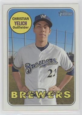 2018 Topps Heritage High Number - [Base] #720.1 - Short Print - Christian Yelich
