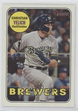 2018 Topps Heritage High Number - [Base] #720.2 - Short Print - Christian Yelich (Action Image Variation)