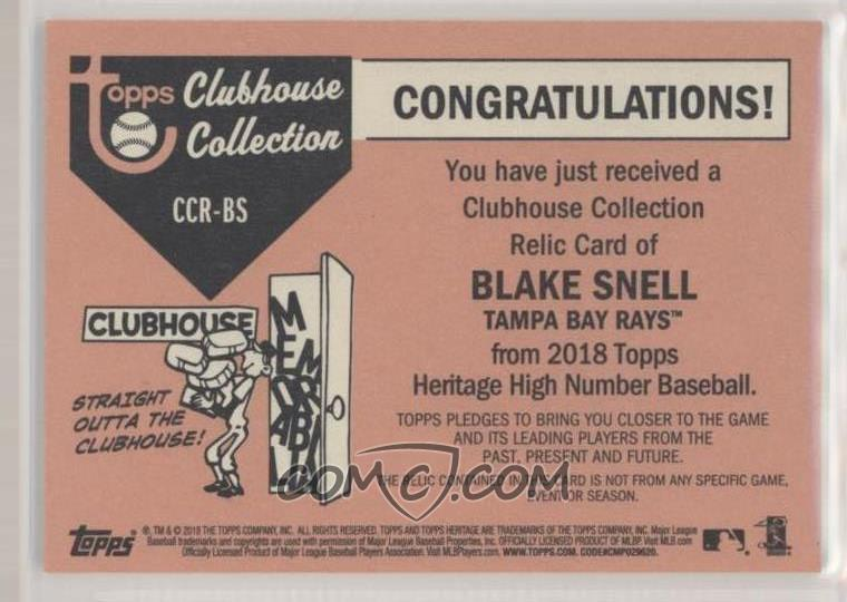 2018 Topps Heritage High Number Clubhouse Collection Relics Ccr