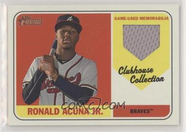 2018 Topps Heritage High Number - Clubhouse Collection Relics #CCR-RA - Ronald Acuna
