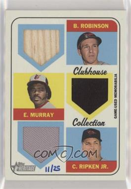 2018 Topps Heritage High Number - Clubhouse Collection Triple Relics #CCTR-RMR - Brooks Robinson, Eddie Murray, Cal Ripken Jr. /25