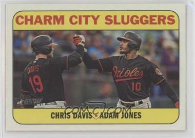 2018 Topps Heritage High Number - Combo Cards #CC-6 - Chris Davis, Adam Jones