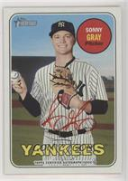 Sonny Gray (Autograph Signed in Red Ink)
