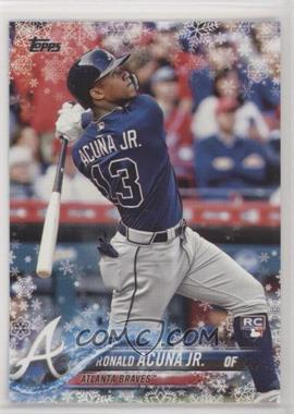 2018 Topps Holiday - WalMart Mega Box [Base] #HMW50 - Ronald Acuna Jr.