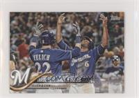 Throw Your Hands In The Air (Christian Yelich & Lorenzo Cain) #/150